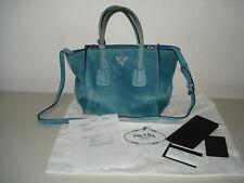 PRADA  Handtasche Tote Bag BN2625 SCAMOSCIATO in azzurro KP 1300,00 Euro