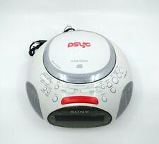 Sony Psyc Dream Machine ICF-CD832 CD Player AM FM Radio Alarm Clock White Works