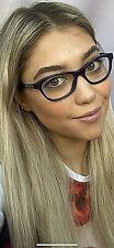 New Versace Mod. 1232-B 6450 Purple 52mm Cats Eye Women's Eyeglasses Italy #4