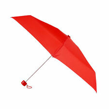 Totes Mini Thin Round Umbrella - Scarlet