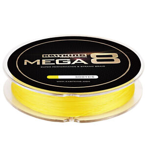 KastKing Mega 8 Strands Super Braided Fishing Line 300yds 25LB - yellow Line NEW