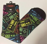 NES Nintendo Bioworld Fits Men's Crew Sock Size 10 To 13 NWT Officially Lic