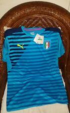 puma Italia soccer futbol training jersey euro 2016 atomic blue NWT size L mens
