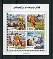 Sierra Leone 2015 MNH Africa Cup of Nations 4v M/S Football Soccer Ivory Coast