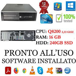 Pc Desktop Ricondizionato Hp 6000 Core 2 Quad Q8200 16GB 240GB SSD DVD Garanzia