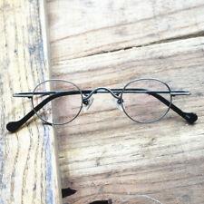 Vintage Small Oval Round Reading Glasses Pure Titanium Full Rim Unisex Retro