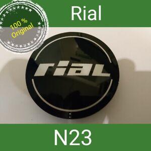 N 23 Rial Orginal schwarz Nabenkappen  Felgendeckel 60 mm 1 St. Lugano Ravenna