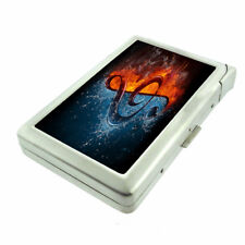 Fire Ice Music Em1 Cigarette Case with Built in Lighter Metal Wallet