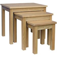Oakridge Nest of 3 Tables Wood Set Coffee Side Lamp Living Room Units