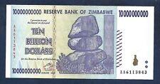 (DN) Zimbabwe 10 Billion Dollars 2008 P-85 Prefix AA SC- UNC-