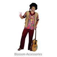 CSW1 Woodstock Groovy 60s 70s Mens Hippie Disco Hallowen Adult Party Costume
