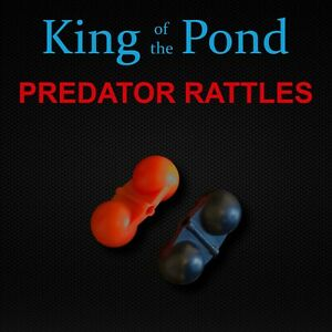 Predator rattles x6 double rattles, red or black - pike fishing, perch rigs