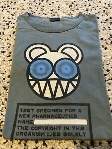 Radiohead Pharmaceutical Bear Kid A-era Vintage T-shirt Men's large