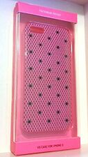 VICTORIA'S SECRET HOT PINK & BLACK POLKA DOTS CASE FOR IPHONE 5/5S MODELS COVER