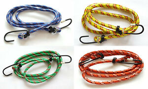1M x 3 Bungee Cord Elastic Luggage Straps Rope With Hooks Stretch Tie Car Bike