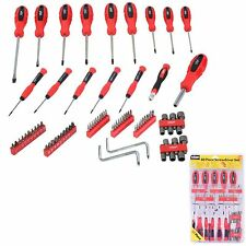 80pc Screwdriver Set Bits Precision Slotted Torx Phillips Toolkit Rolson Tools