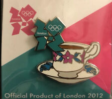 2 Collectible London 2012 Olympic Pins Holiday Teacup & Rower Emblem