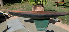 Large Antique Pond Sailing Boat with Green & Black Hull