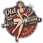 Retro Aufkleber Spark Plug Old School Motorcycles Sticker Race Retro Vintage #22
