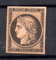 France 1849-50 20c black Ceres fine mint scarce WS16745