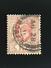 Ceylon 1910 EVII 2R red/yellow SG298 good used.
