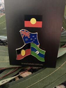 Aboriginal Australian Torres Strait Flag Metal Badge Pin