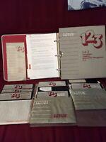 "LOTUS 123 5.25"" floppy disks manual book, vintage DOS software"