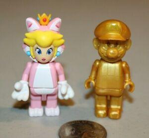 K'Nex Super Mario series 10 Cat Princess Peach Blind bag figure 2017 + Gold RARE