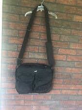 Black Puma Bag Flat Messenger Type Outside Pockets Adjustable Strap Small Laptop
