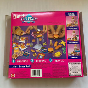 Barbie Fun Fixin' Barbecue Set #67431 New 3-in-1 Super Set Vintage Accessory 95'
