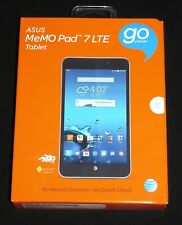 "New Sealed (AT&T Prepaid) ASUS MeMO Pad 7 LTE Quad-Core 16GB 7"" Android Tablet"