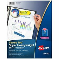 Avery Diamond Clear Secure Top Sheet Protectors Super Heavyweight 25 Page P