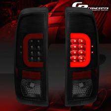 [3D LED RED C-SHAPE]FOR 09-16 FORD F350/F450 BLACK SMOKED TAIL LIGHT L+R SIDE