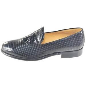 scarpe mocassino nero moda classico vero cuoio eleganti cerimonia eventi casual