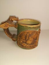 Stoneware drip pottery dragon handle/wizard magic coffee mug 3D image detailed
