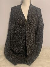 Maurices Black/White Open Front Cardigan Sweater Women's Size Large NWT