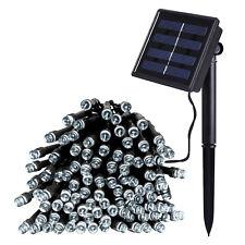 Catena luminosa 300 LED Pannello Solare Luce Bianco Freddo 30 metri Luci Natale