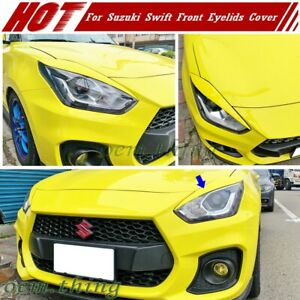 17-21 Fit FOR Suzuki Swift 4th Hatchback Front Headlight Cover Eyebrow Painted