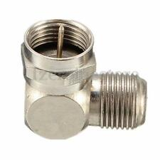 TV Antenna Cable Connector F-Type Male to Female Right Angle Adapter 90 degree F