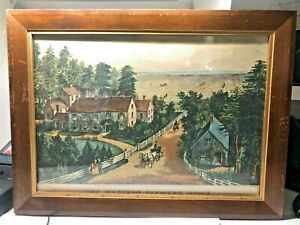 Currier & ives color print the western farmers home