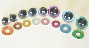 Glitter Colored 25mm 20mm 16mm 10mm Extra Large Safety Eyes Teddy Bear Toy Craft