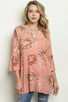 NWT Women's Medium Floral Summer Fall blouse Top BOUTIQUE