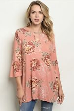 NWT Women's Small Floral Summer Fall blouse Top BOUTIQUE