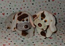 2 Vintage Pound Puppies Clone? Miniature Plush Puppies Grabbers Korea