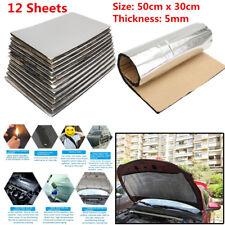 12pc Car Heat Shield Mat Firewall Sound Deadener Insulation Deadening Cotton 5mm