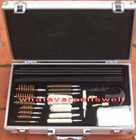 ALUMINIUM CASE MULTI GUN CLEANING KIT for universal shotgun air pistol rifle