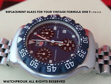 Mineral GLASS  FIT  TAG HEUER  F1 FORMULA ONE CHRONOGRAPH  570-513 - glass only