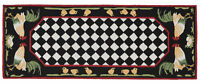 "AREA RUGS - ""FRENCH COUNTRY ROOSTER"" INDOOR OUTDOOR RUG - 24"" X 60"" RUNNER"