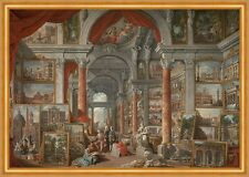 Picture Gallery with Views of Modern Rome Pannini Gemälde Galerie B A1 02116