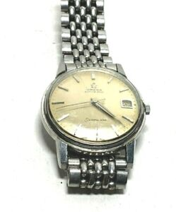 Vintage Omega Automatic Seamaster Stainless Steel Mens Wristwatch Missing Bezel